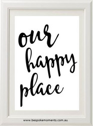 Our Happy Place Ink Wash Watercolour Print