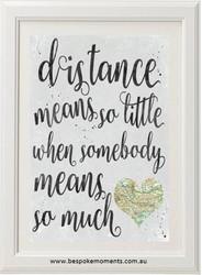 Long Distance Love Print