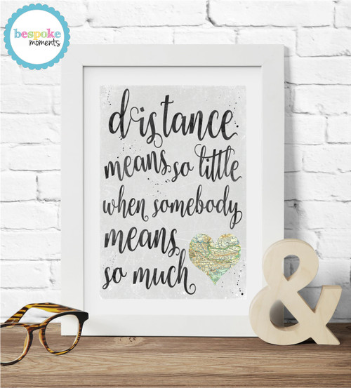 Product image of Long Distance Love Print