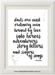Dad Turned By Love Typographic Print
