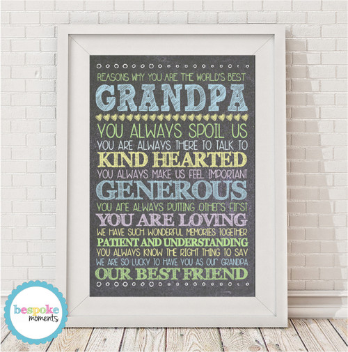 Product image of Personalised Best Grandpa Print