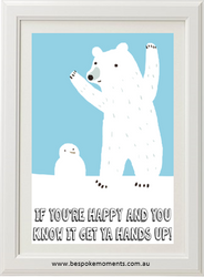 Happy Polar Bear Print