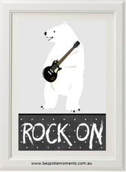 Rock On Polar Bear Print