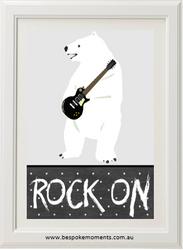 Rock On Polar Bear Print