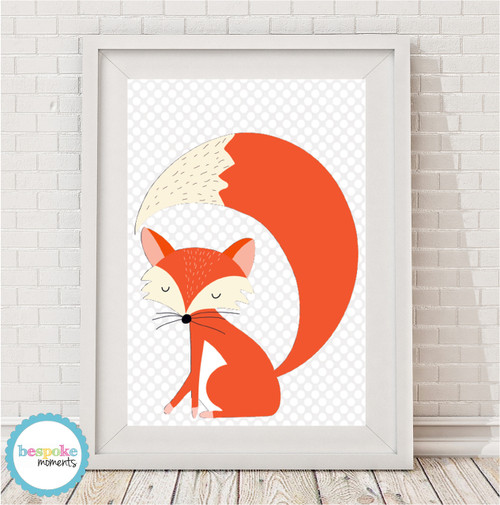 Product image of Sleepy Boy Fox Print