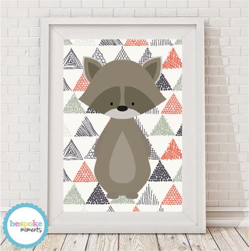 Product image of Woodland Raccoon Print