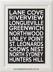 Lane Cove Locale Bus Scroll Print