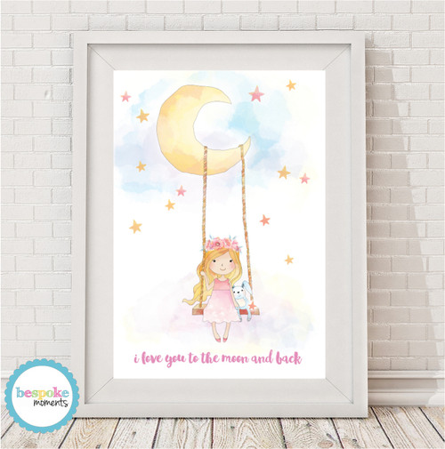Product image of Moon Swing Watercolour Print