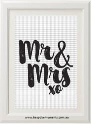 Mr & Mrs Print - Various Styles