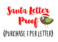Optional Proof of Santa Letter to your email