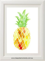Watercolour Pineapple Print