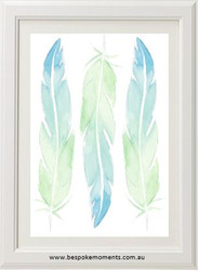 Watercolour Feathers Print