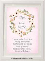 Blushing Blooms Wedding Print
