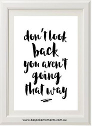 Don't Look Back Print