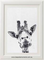 Curious Giraffe Print