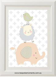 Stacked Animals Girls Print