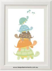Boys Turtle Stack Print