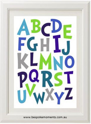Dr Seuss Alphabet Print Blues