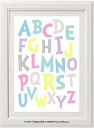 Dr Seuss Alphabet Print Pastels