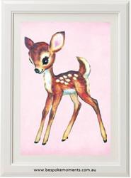 Blush Vintage Deer Print