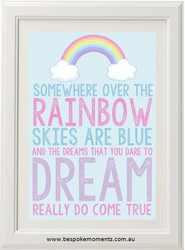 Somewhere Over The Rainbow Pastel Print
