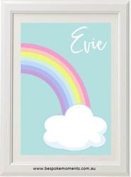Rainbow Pastel Name Print