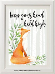 Head Held High Fox Print