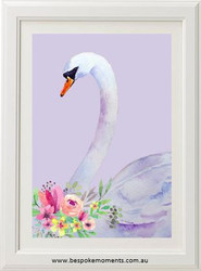 Violet Swan Print