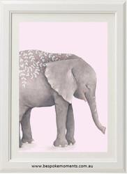 Boho Tribal Elephant Print Pink