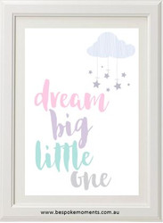 Dream Big Pastel Print