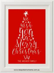 Family Christmas Tree Print