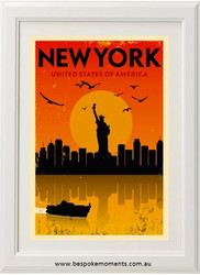 Vintage City Print - New York