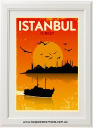 Vintage City Print - Istanbul