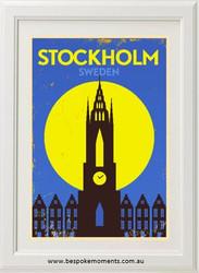 Vintage City Print - Stockholm