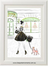Parisian Grande Rue Print - Colour