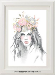 Flower Goddess Watercolour Print