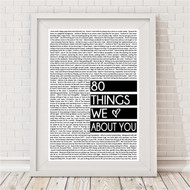Monochrome Things We Love About You