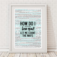 How Do I Love You Reasons Print