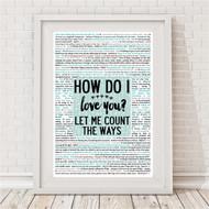 How Do I Love You Reasons Print