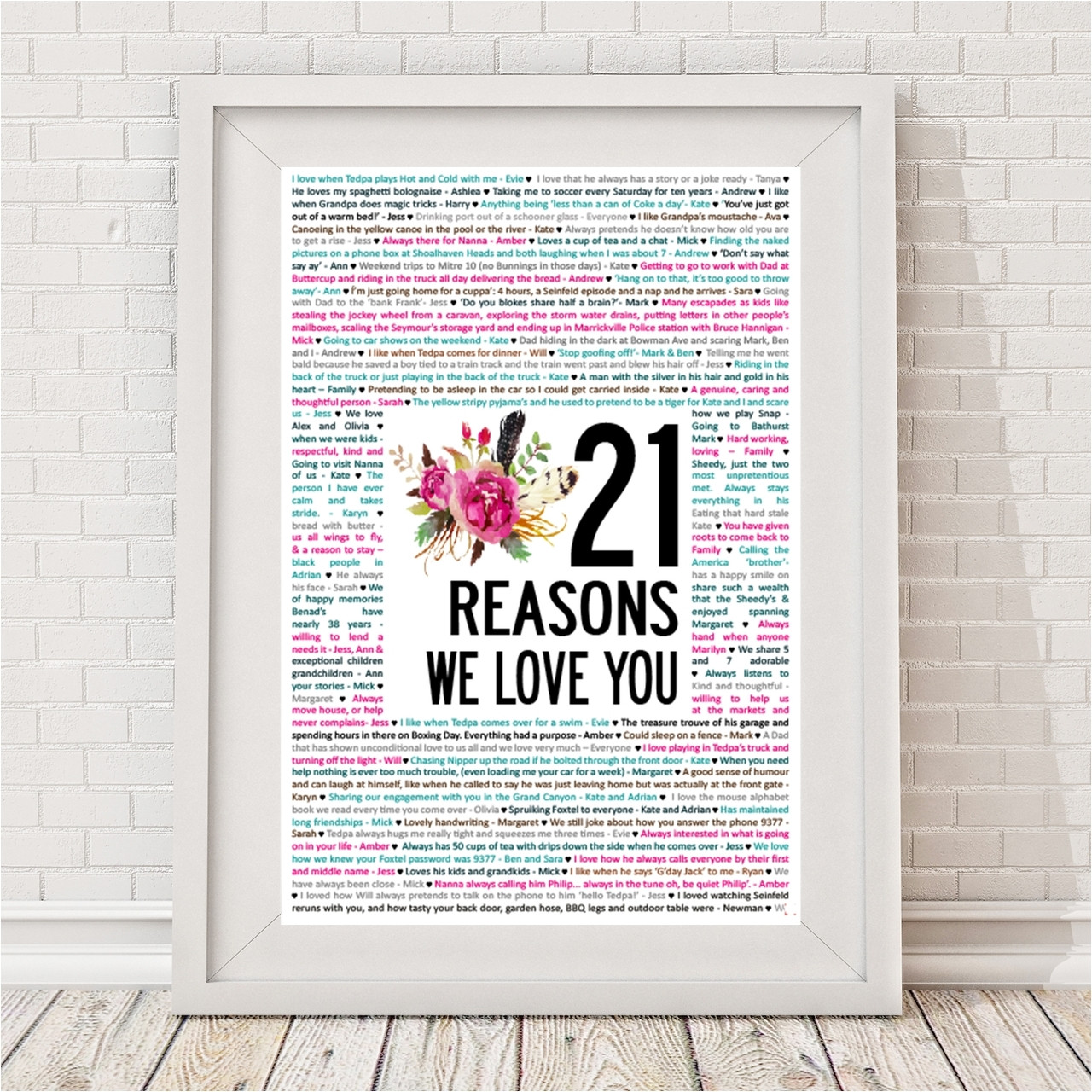 Reasons We Love You Blooms - Bespoke Moments