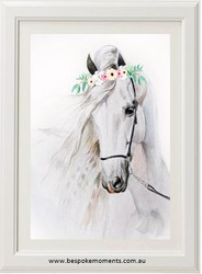 Watercolour Willow Horse Print