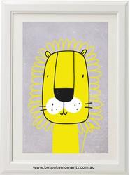 Mustard Lion Roar Print