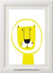 Mustard Leo Lion Print