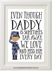Daddy/Mummy We Miss You Print - Navy Uniform 2
