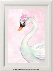 Royal Swan Princess Print - Pink