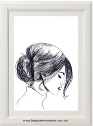 Bold & Brave Sketch Woman Print