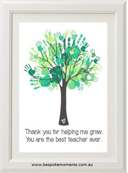 Handprint Teacher Print