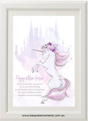 Mystic Unicorn Birth Print