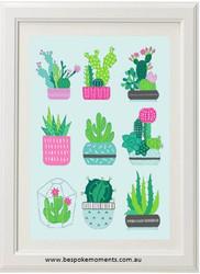 Succulent Love Print