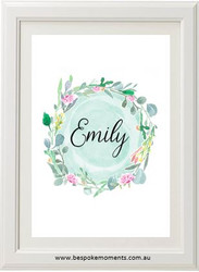 Wild Flower Name Print